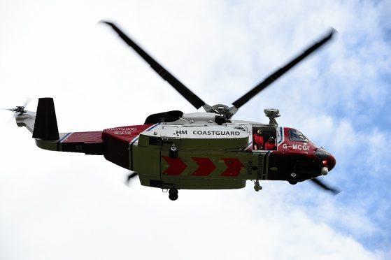 Coastguard helicopter.