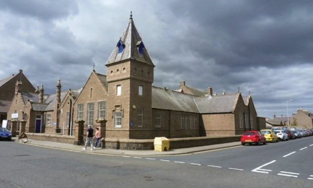 The former North School and Glenugie Business Centre in Peterhead's Windmill Street.