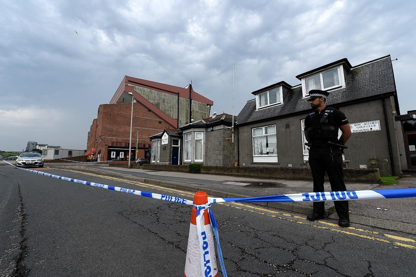 Police on Golf Road in Aberdeen