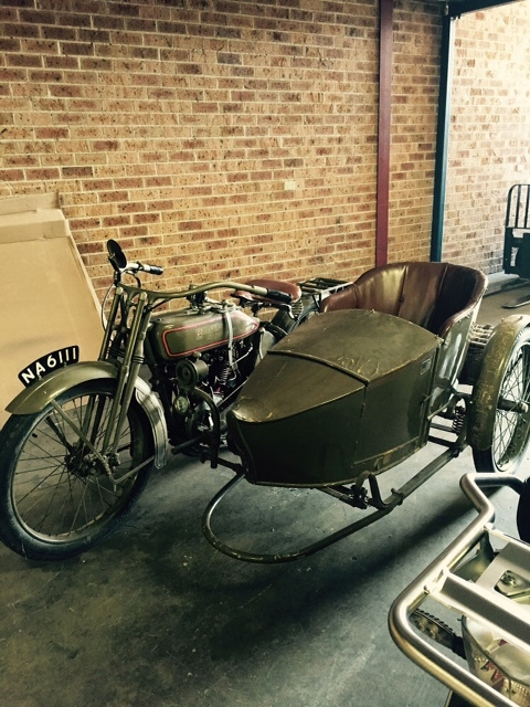 Harry Verkuil's motorcycle.