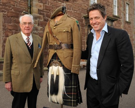 Actor and film director Hugh Grant at Fort George's Highlanders Museum