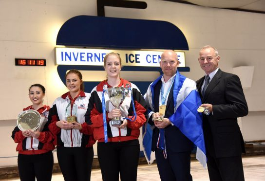 Inverness Ice Centre Refurbishment. (l to r) Carolione Allan, Eilish Rennie, Emma Miller, Ewan MacDonald and Tom Pendreigh.