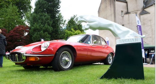 The Jaguar Enthusiast's Club's annual gathering at Drum Castle. (Picture: Kevin Emslie).