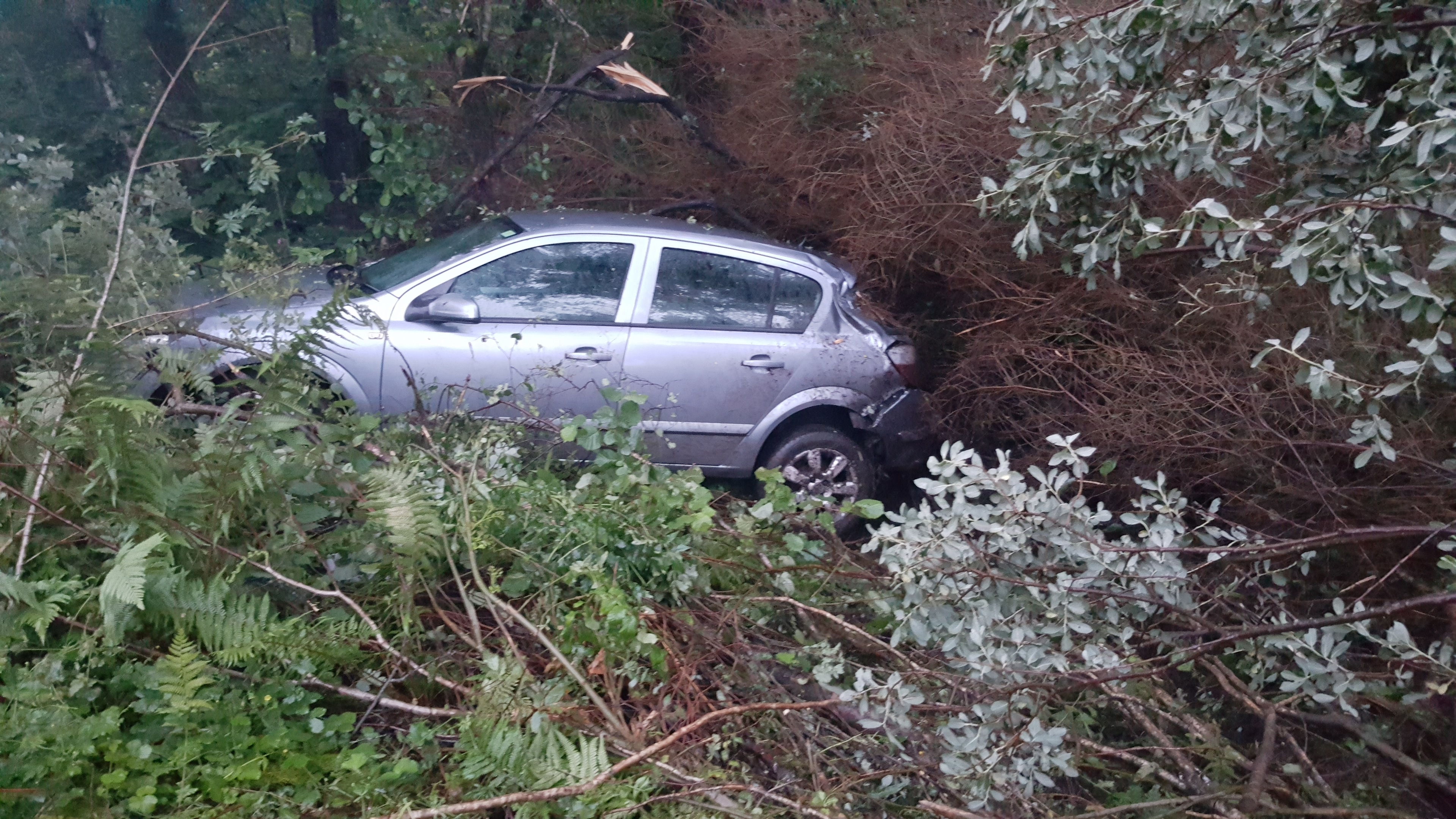 Laura Tipping's Vauxhall Astra immediately after the crash