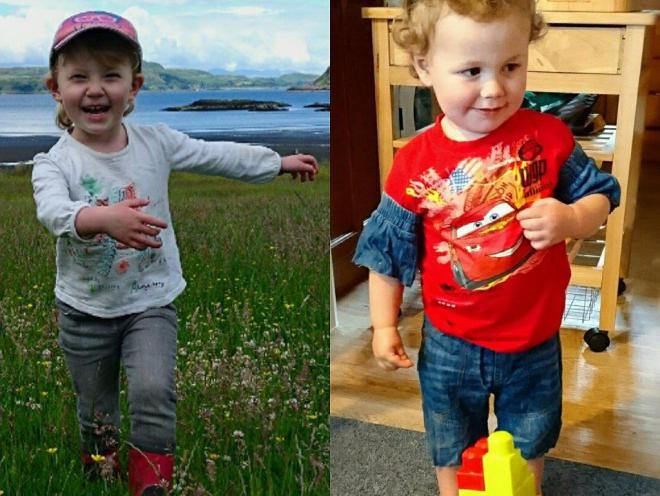 Leia and Seth McCorrisken died when the car they were travelling in plunged into a remote Scottish loch (Police Scotland/PA)