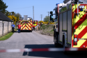 Fire crews responding to the chemical spill at Longmorn Distillery in May.