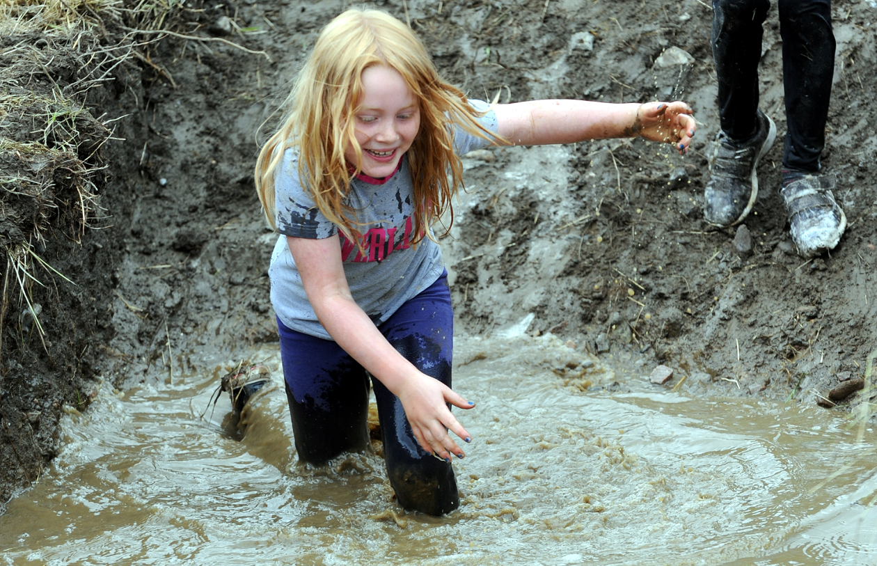 Iris Geddes enjoys one of the previous mudder races.