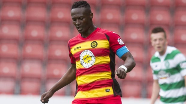 Partick Thistle's David Amoo netted the second for the home side.