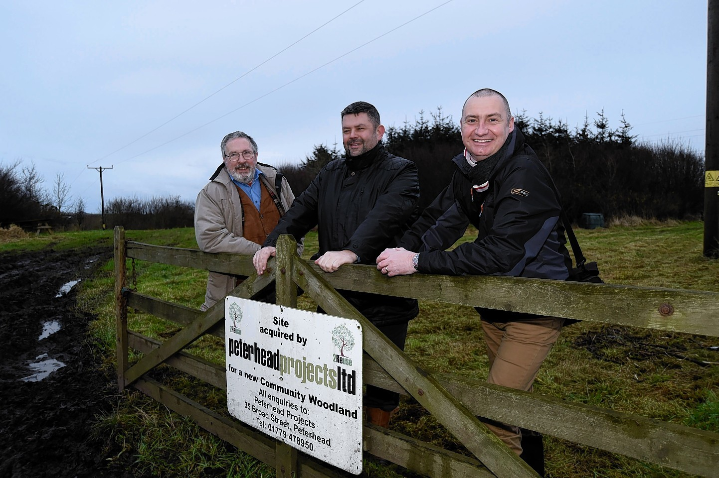 Peterhead Projects' team at the Buchan Meadow initiative.