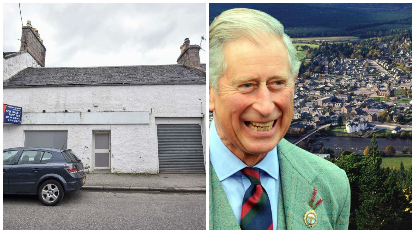 Prince Charles is behind the plans to convert the former Co-op on Ballater's Netherley Place.