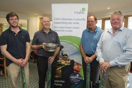 The winning team of Tom Cargill, Jim Cargill, Murray Hadden and Andrew Gilchrist.