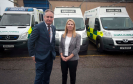 Richard Lochhead MSP meets with the Chief Executive of the Scottish Ambulance Service, Pauline Howie at Scottish Ambulance Service Depot,  Elgin, and talks about concerns about response times in Moray.