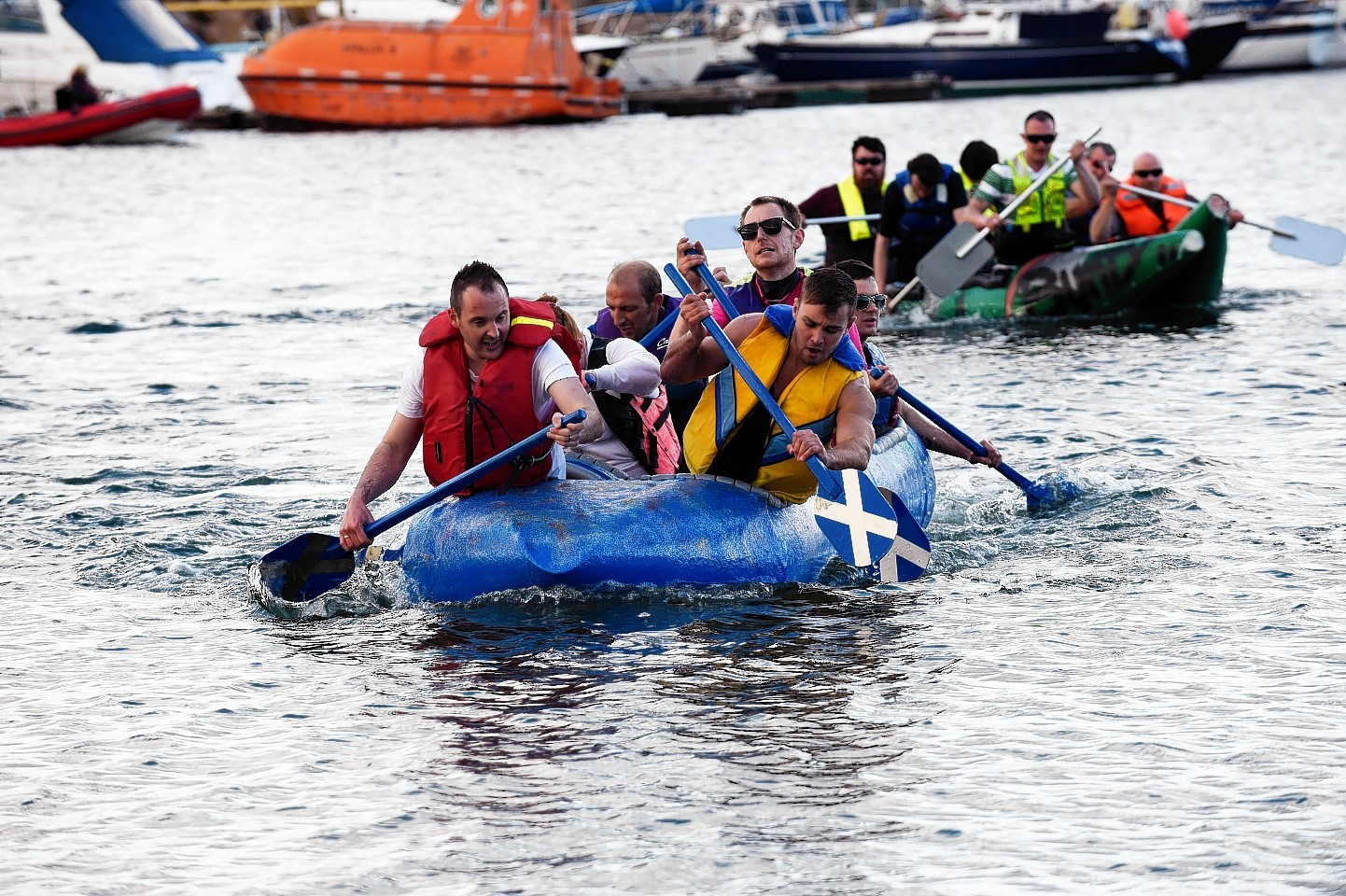 The popular raft race event is a highlight of Scottish Week.