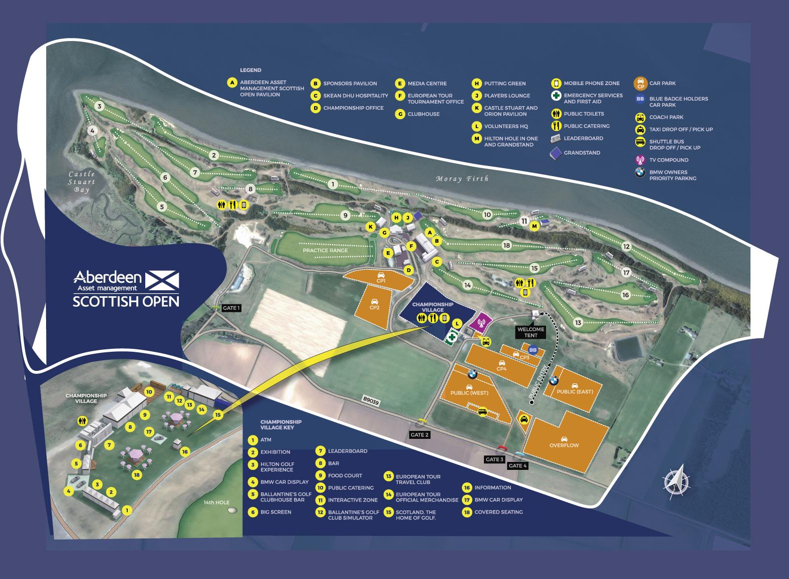 Scottish Open 2016 course guide