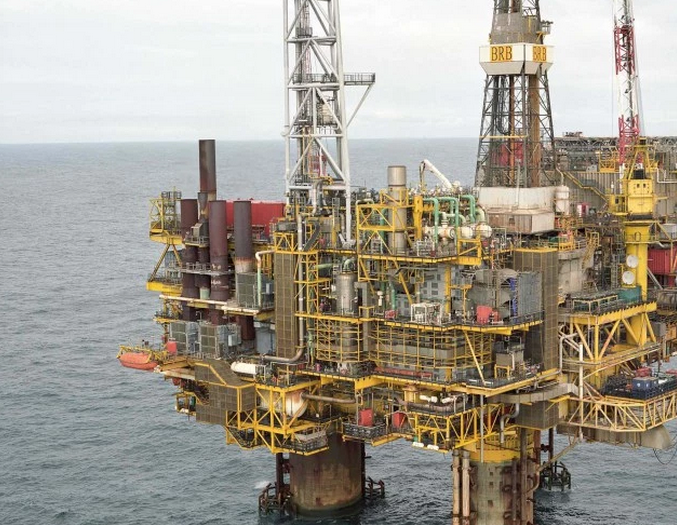 Shell's platform in the North Sea