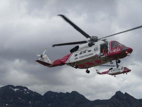 The search and rescue helicopters based in Stornoway