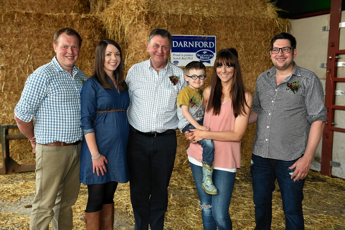 David and Lynne Watson, Pete Watson, Xander, 4, Aynsley and Adam Watson.
