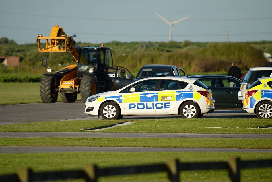 Five people have been injured in a helicopter crash. (Pictures: Anna Gowthorpe/PA Wire)