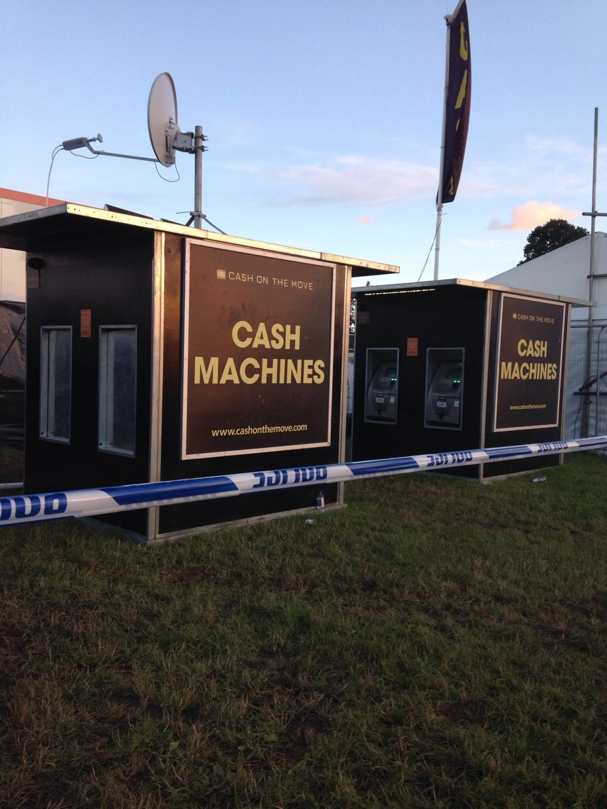 A thief has made off with an ATM at T in the Park. (Picture sent in by Mark MacLellan)