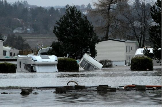 Deeside Holiday Park was devastated by Storm Frank floods. (Picture: Kenny Elrick)