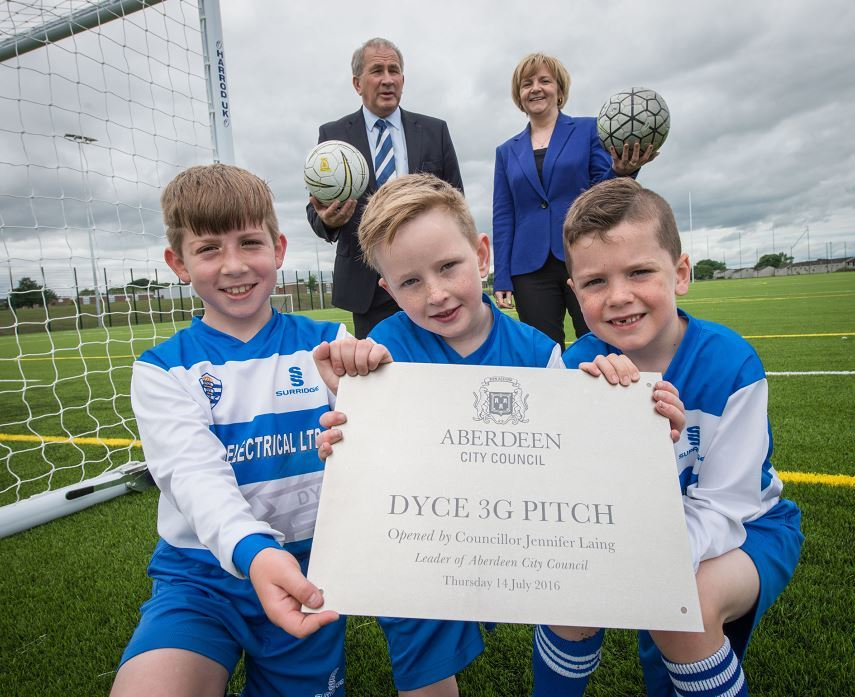 A long-awaited 3G Dyce pitch has opened its doors.
