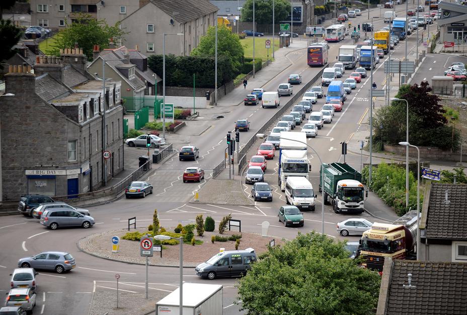 Aberdeen's Haudagain roundabout