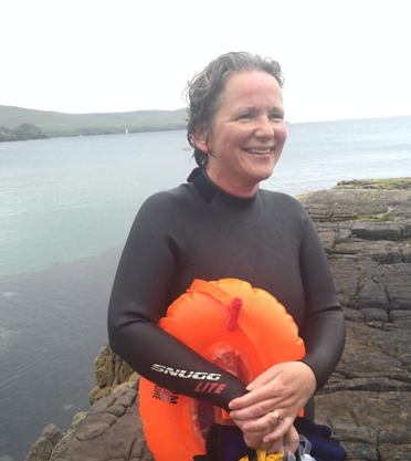 Catriona Barr was swimming off Lerwick