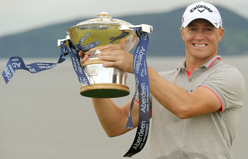 Alex Noren with his Scottish Open title