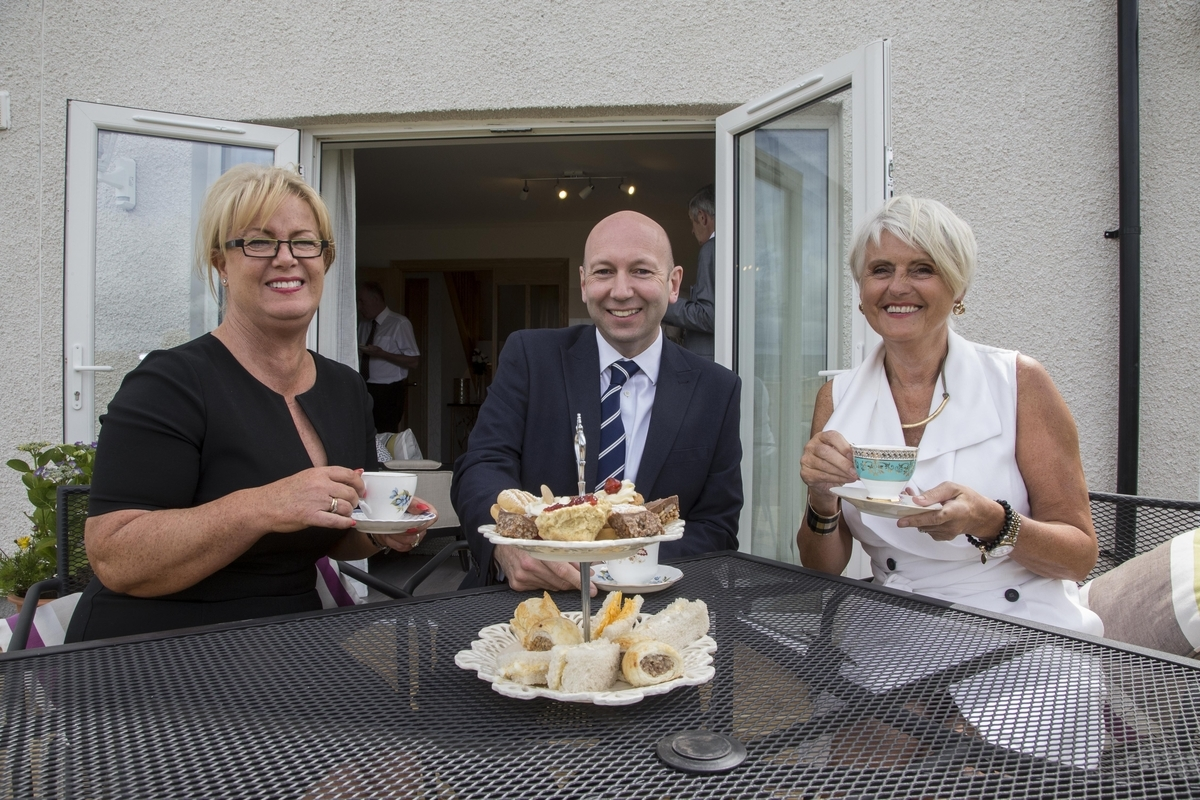 Sales advisor Margaret Allan, Alastair White, new managing director of Muir Homes and Rosemary Livingstone, sales and marketing manager