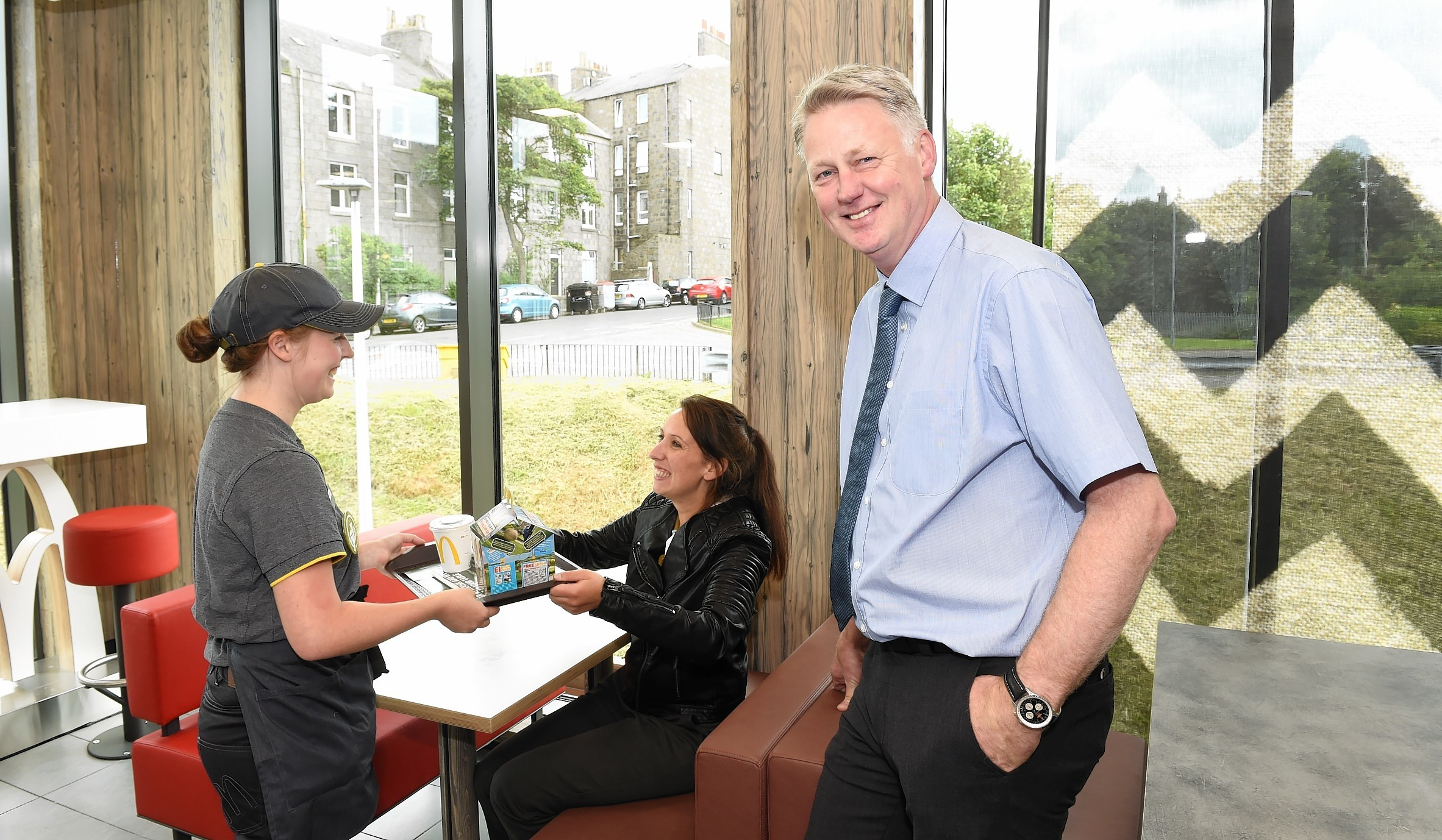 Owner of the newly opened McDonald's, Craig Duncan, at the premises in Kittybrewster Retail Park.