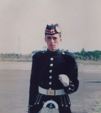 Tributes have been paid to Morven Blackhall, a former Gordon Highlanders soldier, who died suddenly. (Picture submitted by family)