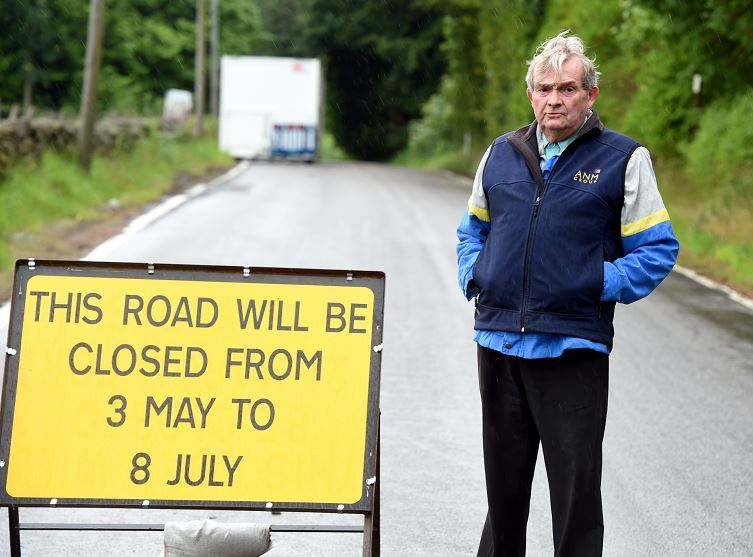 Philip Reid is angered by delays to the opening of Counteswells Road (Picture: Jim Irvine)