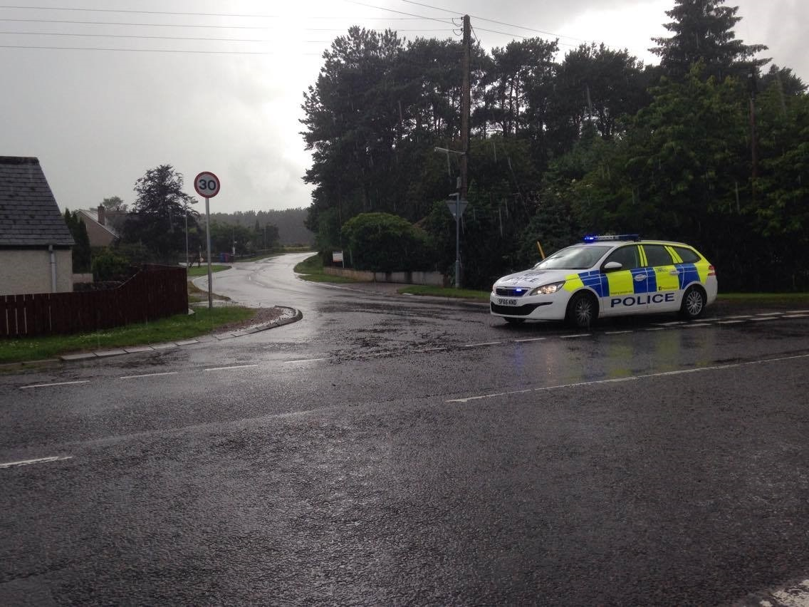 A cyclist has been airlifted to Raigmore Hospital in Inverness after he was involved in a collision with a car.