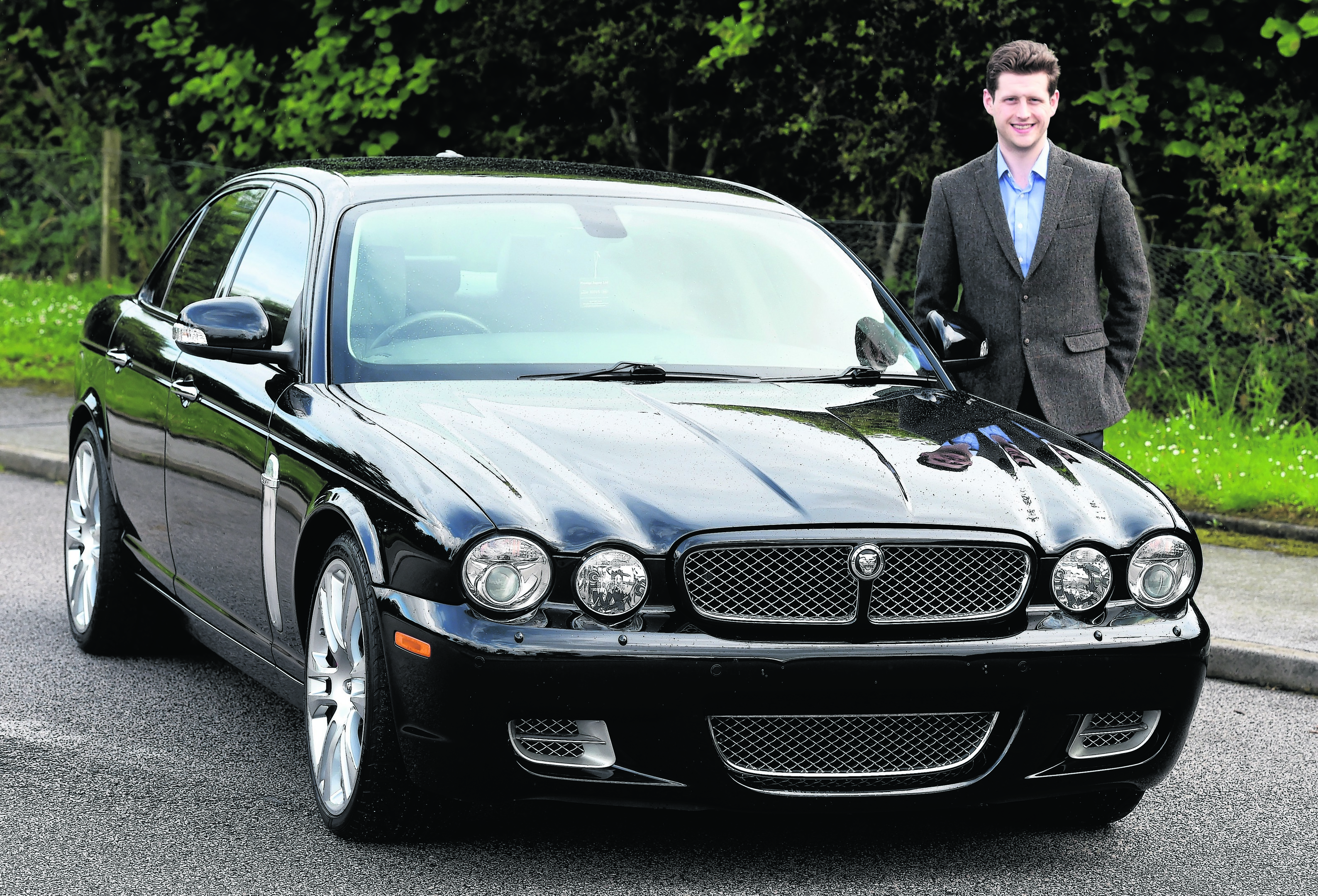 Simon Rattray with his 2008 Jaguar XJR at Kingswells.