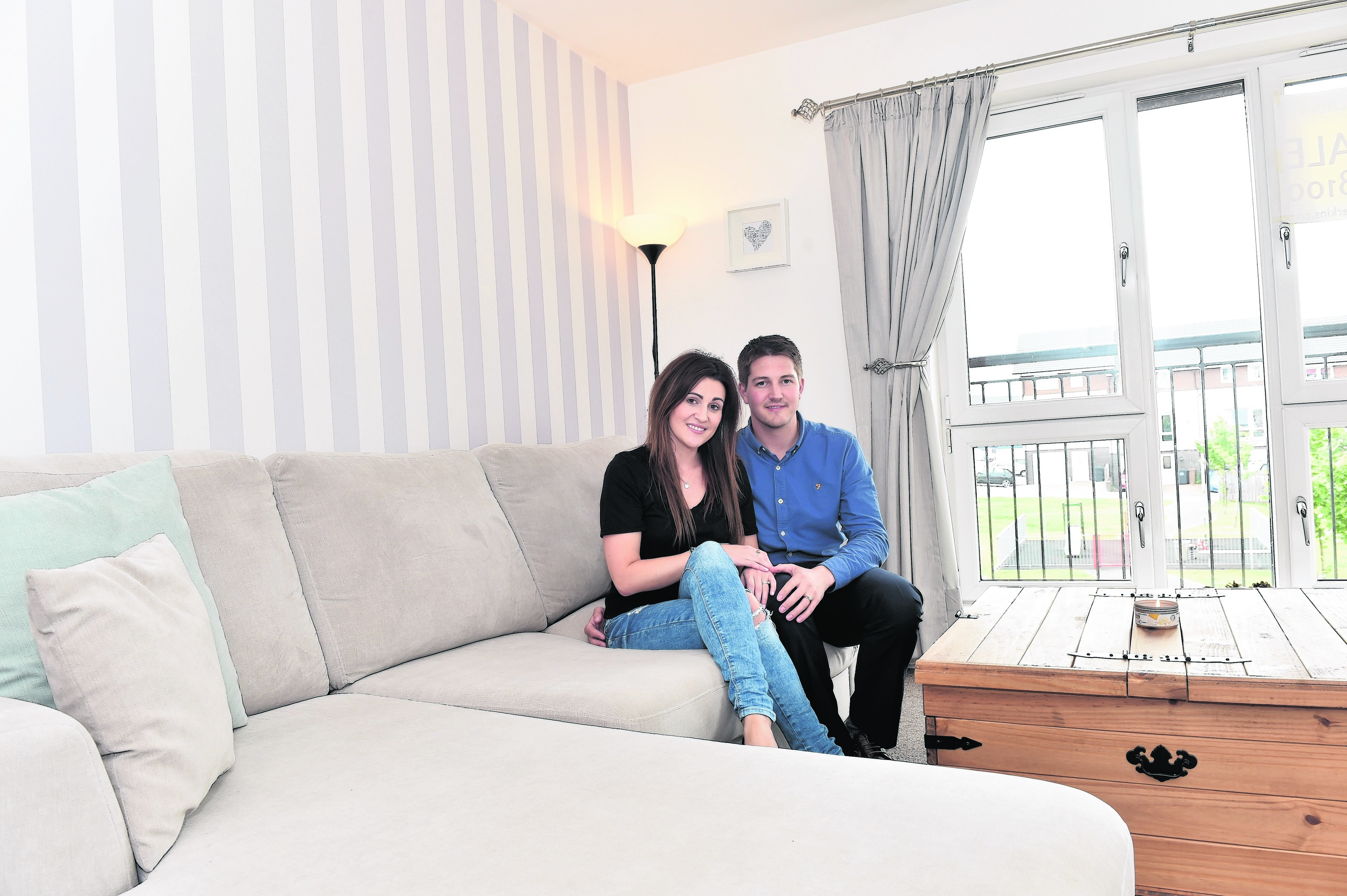 Victoria and Stuart Chalmers at their home, 28 Goodhope Park, Aberdeen.
