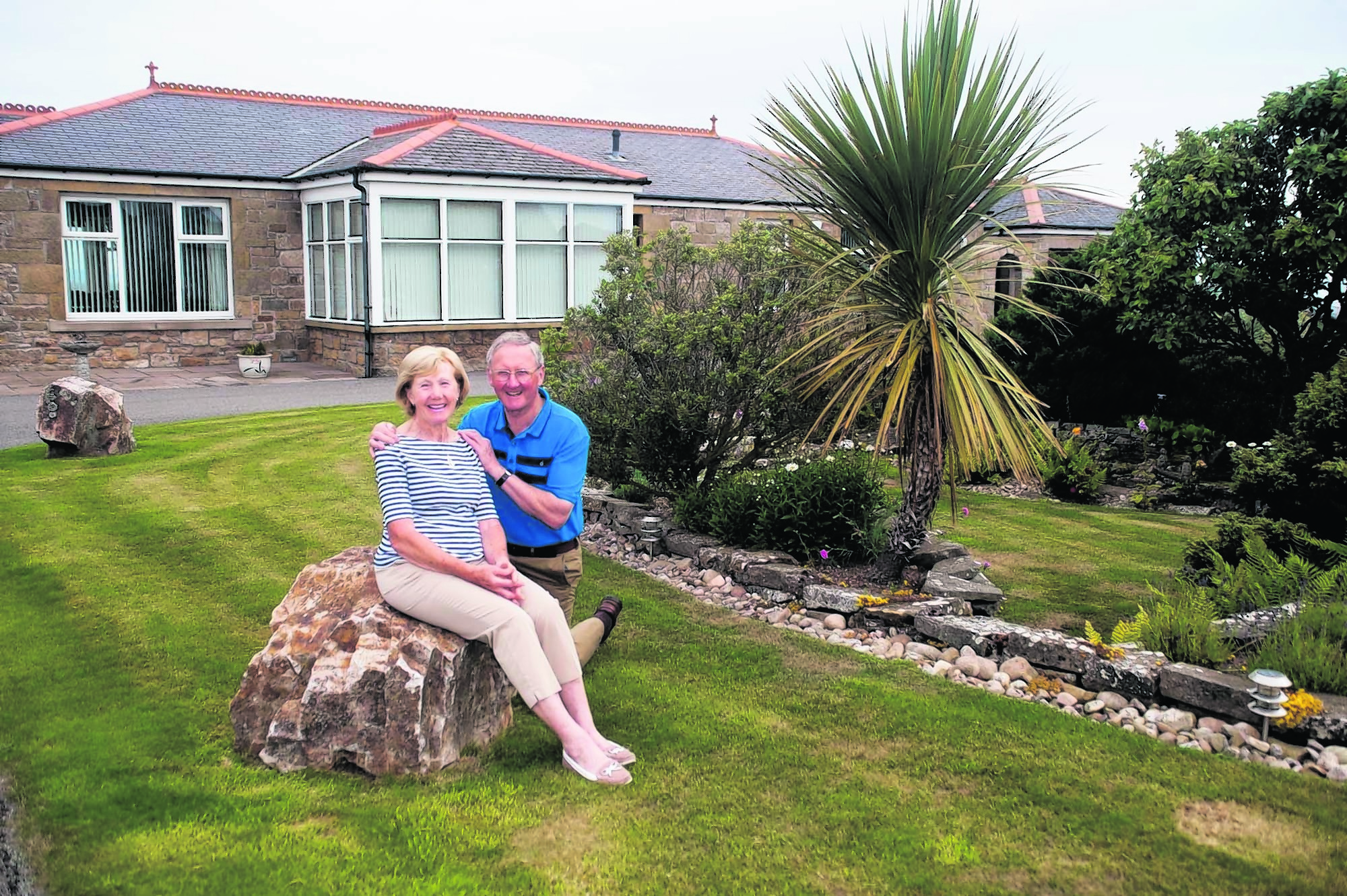 Graham and Doreen Brain at their home, The Sheans, Lodge Road, Hopeman.