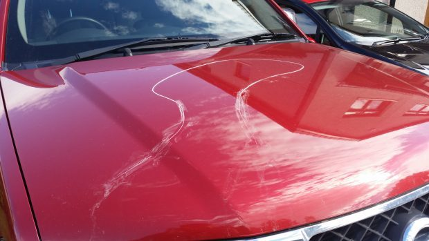 Vandals heavily damaged the vehicles