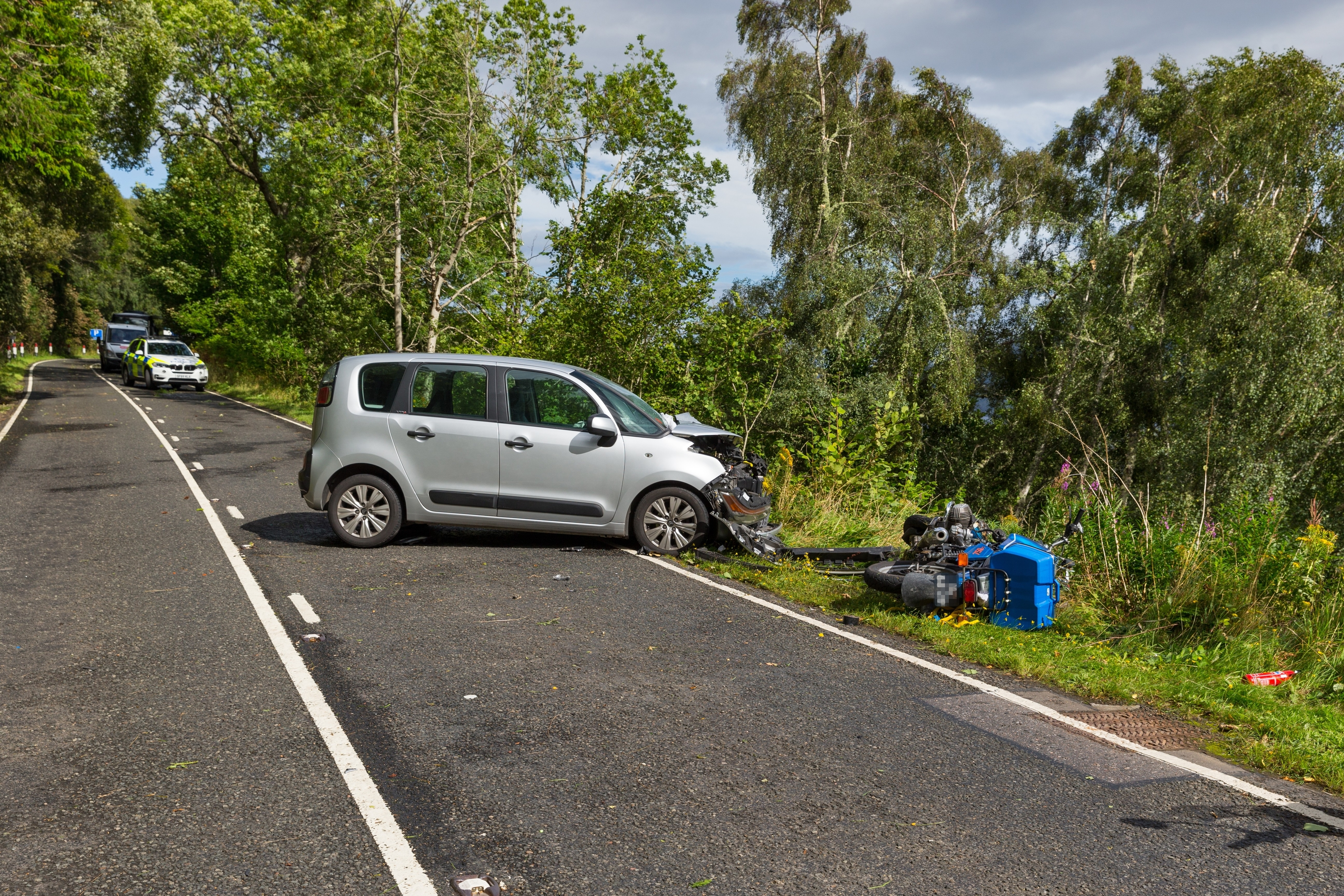 A motorcyclist was injured after an accident on the A82 south of Drumnadrochit