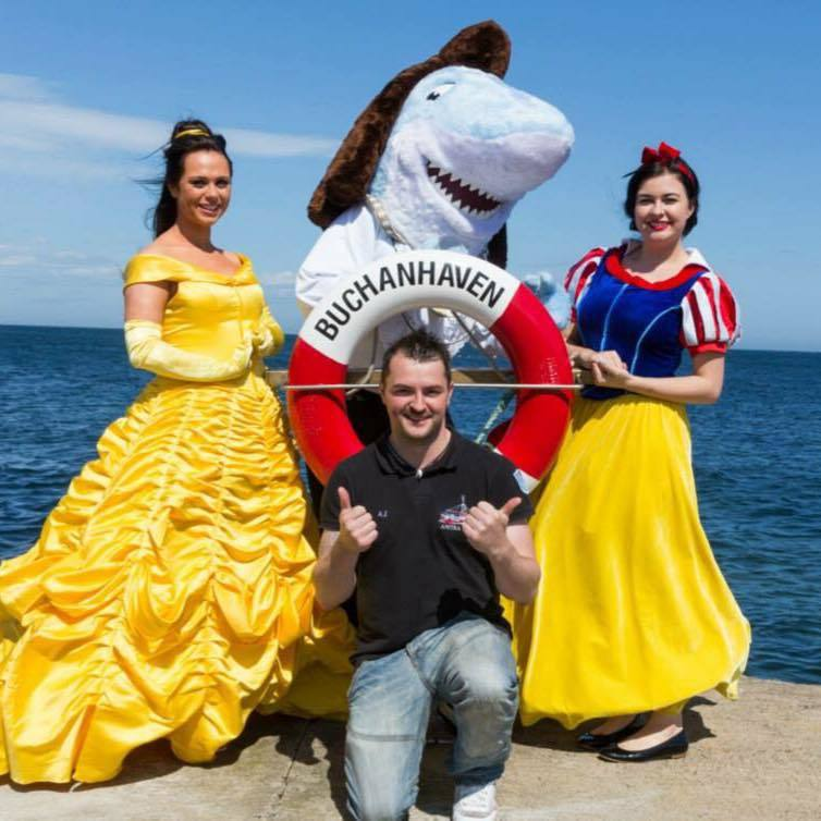 Buchanhaven was visited by costumed Disney princesses for the open day.