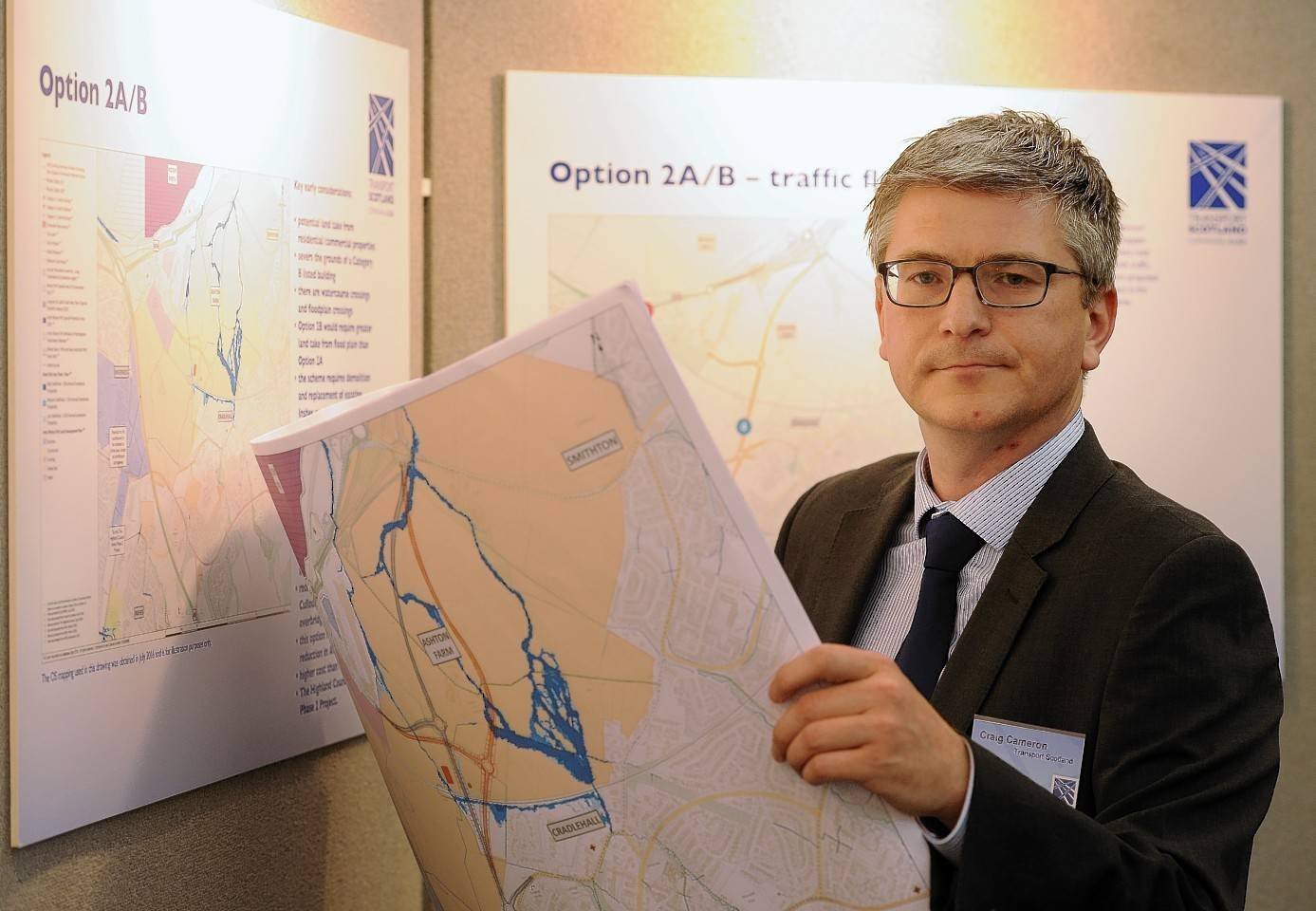 Transport Scotland project manager Craig Cameron.