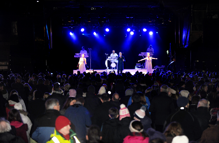 The Human League perform at The Open Air In The Square Stonehaven 2014.