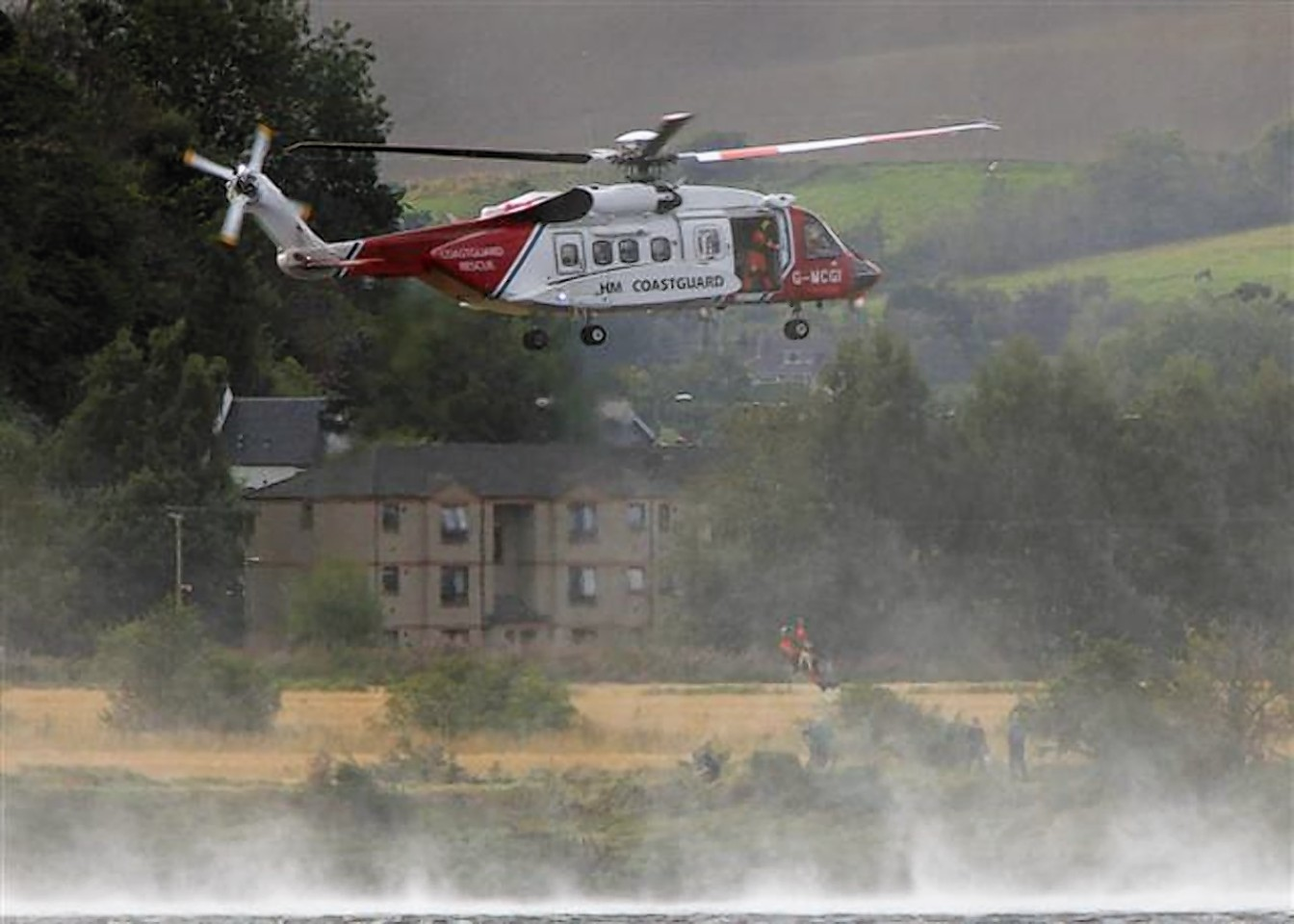 Coastguard in operation