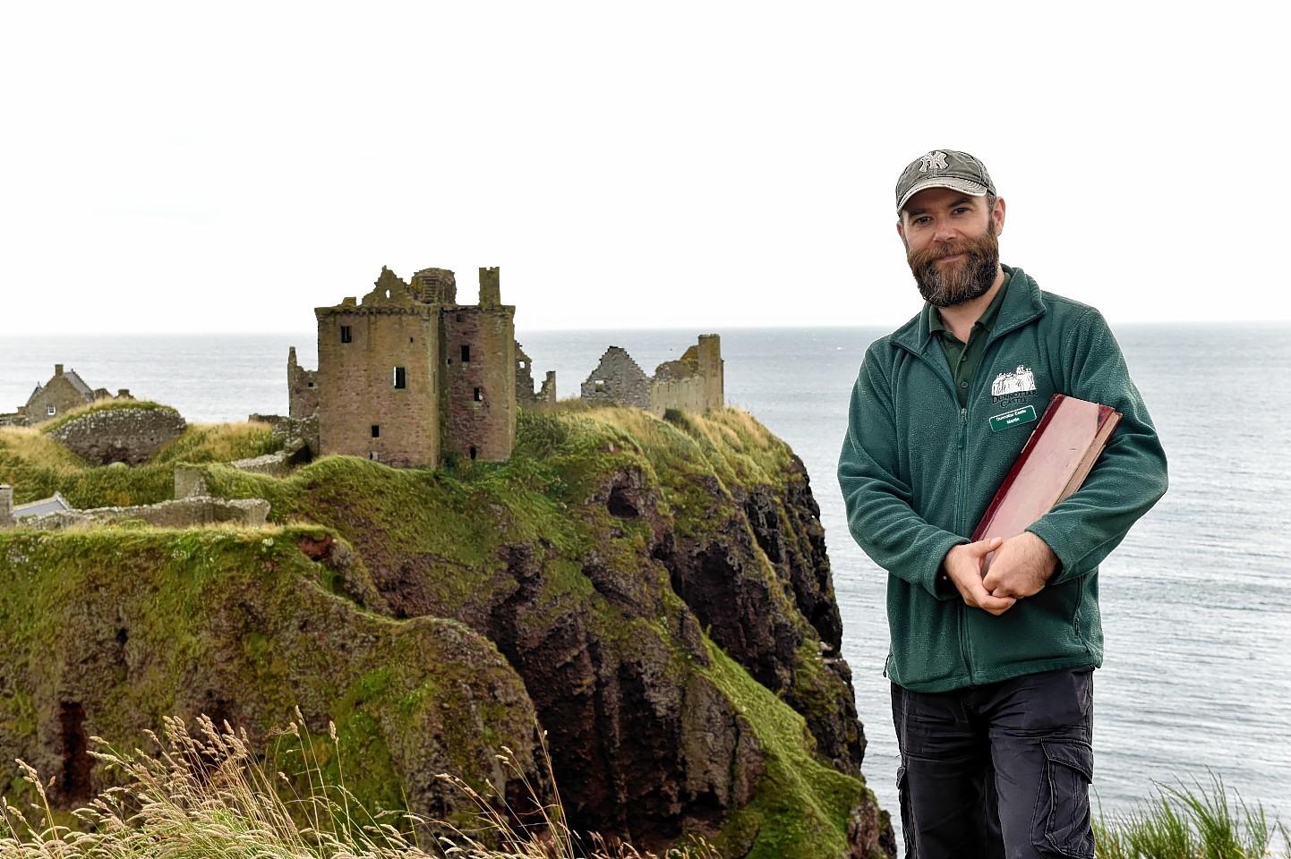 Martin Gray at Dunnottar Castle