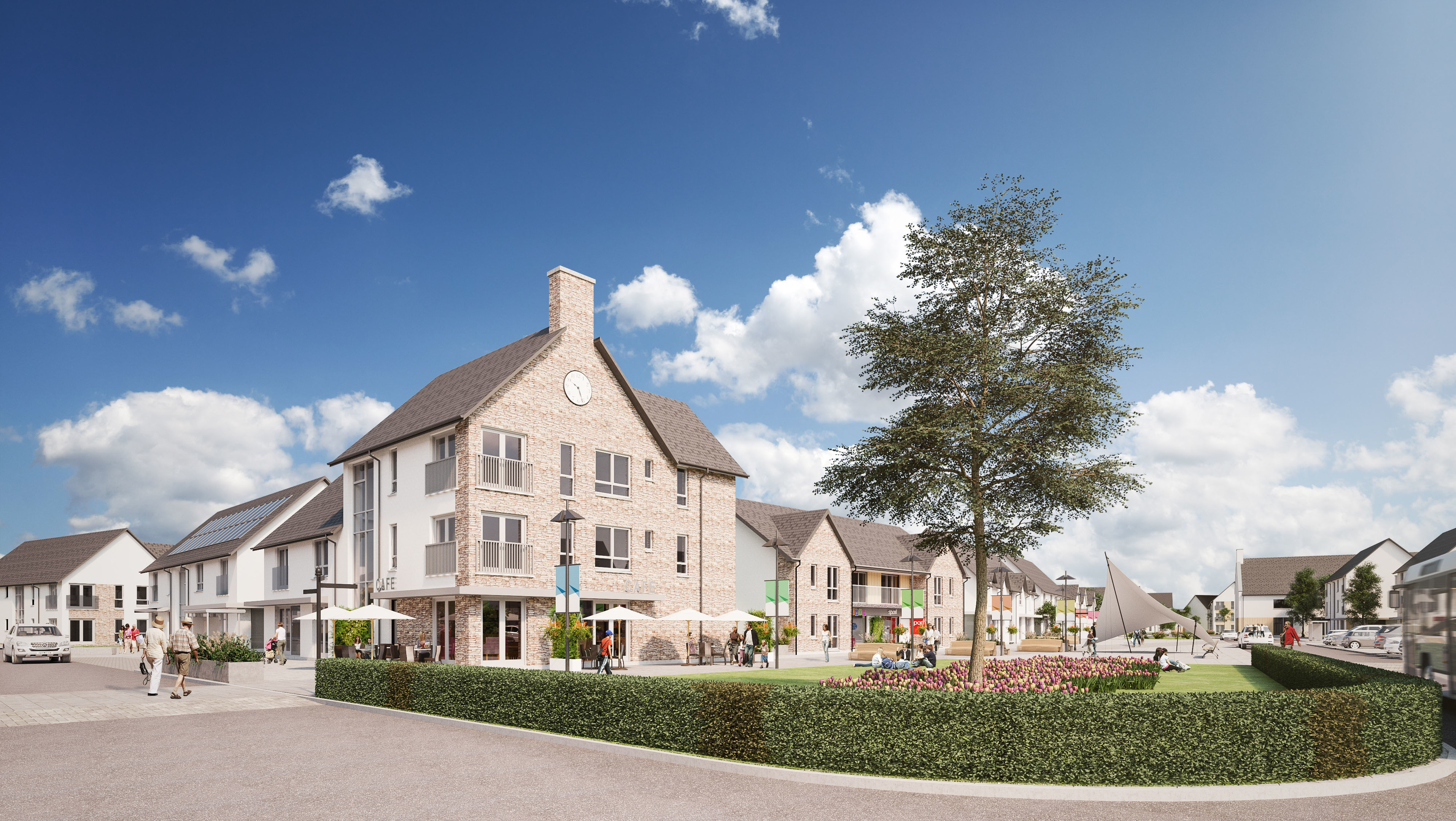 """An artist impression of the """"village core"""" in the Elgin South development."""