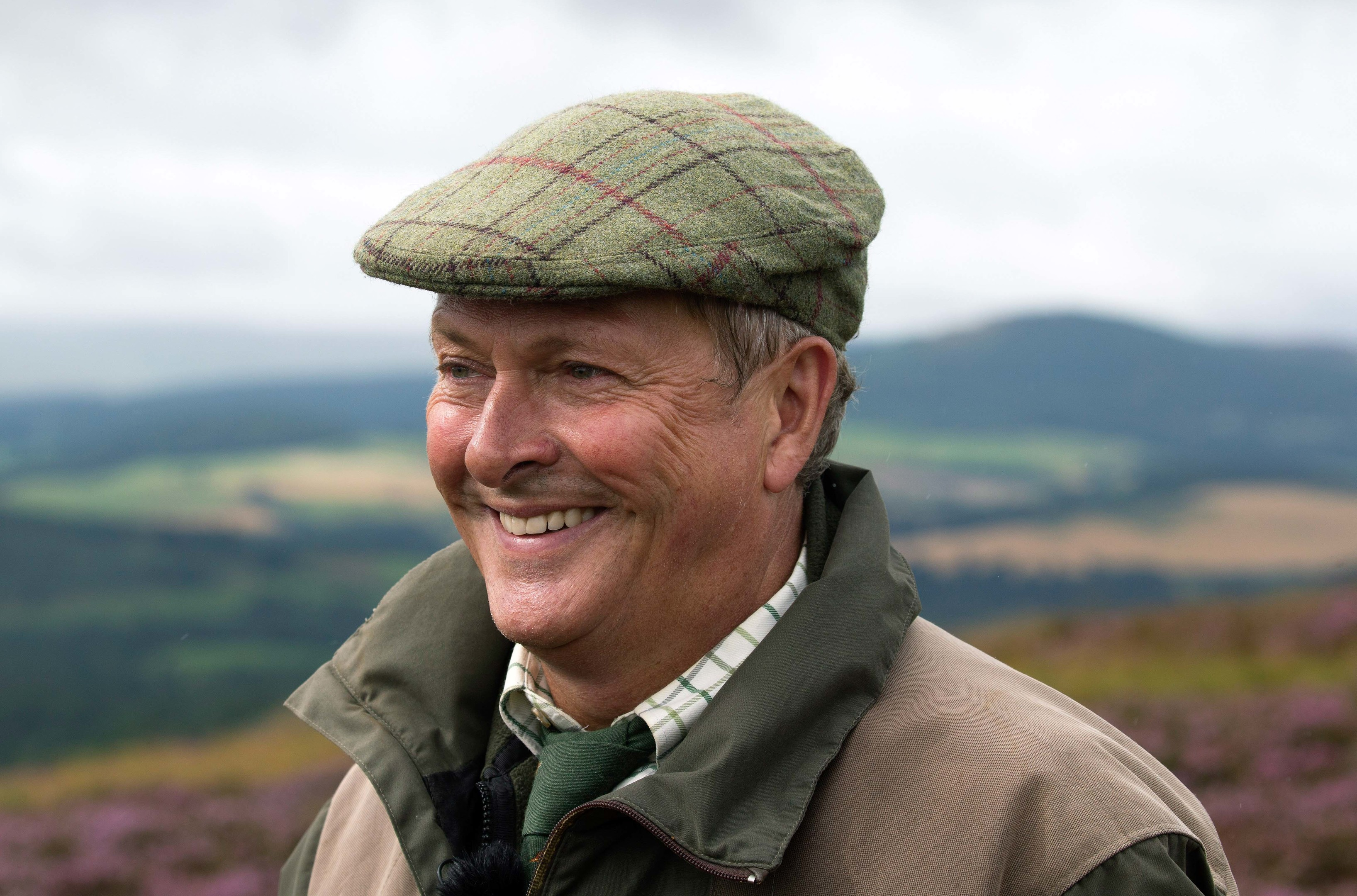 The Glorious Twelfth launcehd by the Gift of Grouse on The Abercairny Estate near Crieff in Perthshire…12.08.16 Chef Nick Nairn pictured on the grouse moors of the Abercairny estate this morning where he bagged himself a brace of grouse on the opening day of the Grouse season Picture by Graeme Hart. Copyright Perthshire Picture Agency Tel: 01738 623350 Mobile: 07990 594431