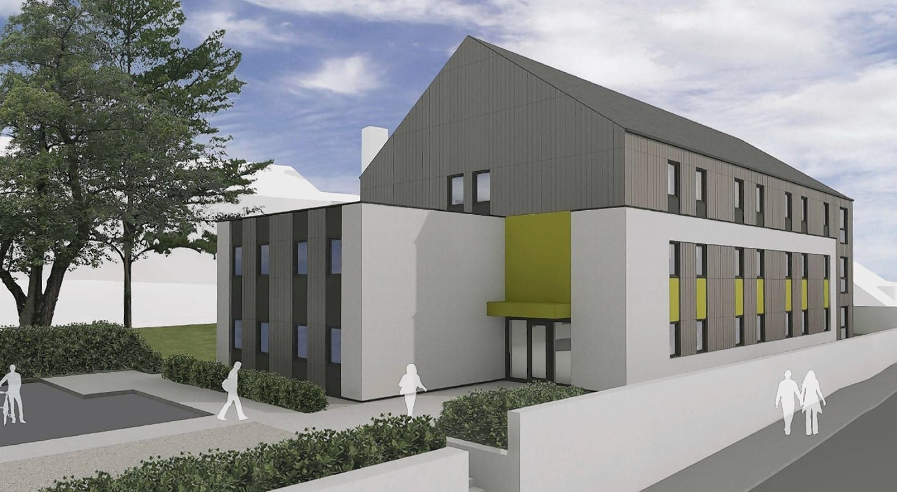 An artist's impression of the student accommodation at Fassifern Road, Fort William