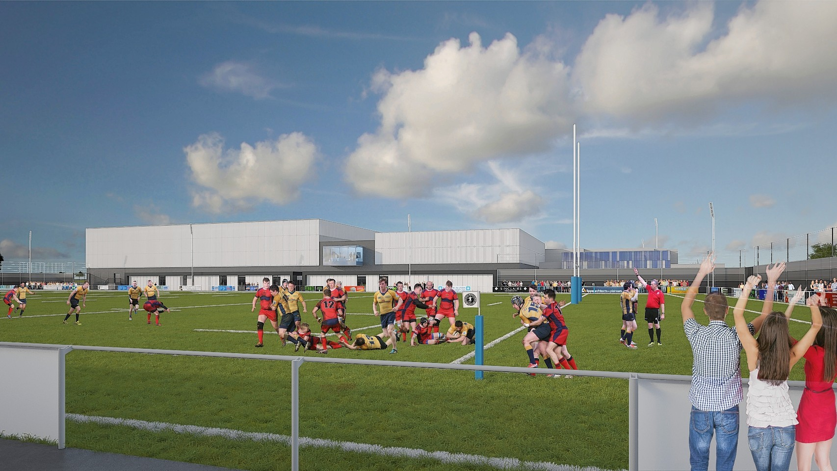 A rugby pitch at the proposed Garioch Sports and Community Centre