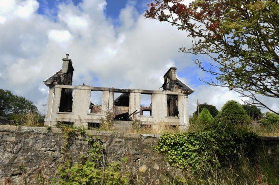 The shell of Hillside House, Portlethen. Credit: Jim Irvine.