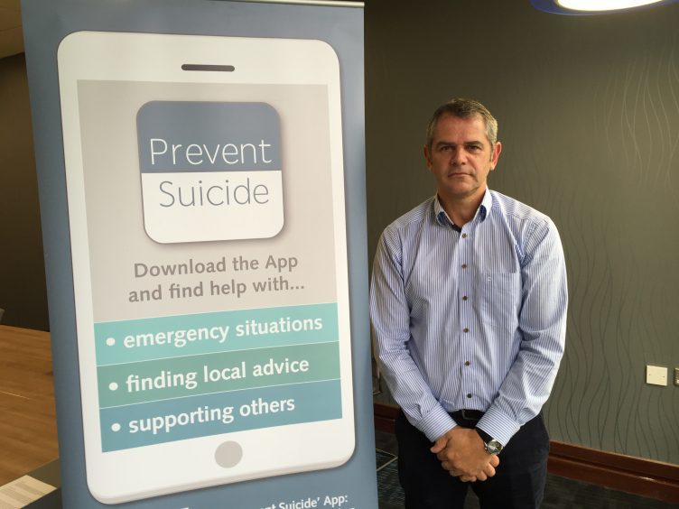Iain Murray of the Scottish Association For Mental Health (SAMH) who is the Choose Life Coordinator for Aberdeen and Aberdeenshire.