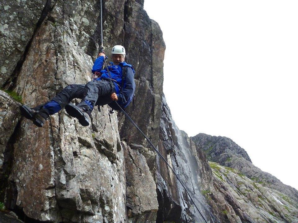 Botanist Ian Strachan in search of rare plants on the North Face of Ben Nevis